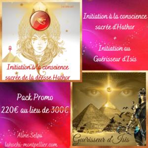 Pack promo Initiation à la conscience de la déesse Hathor et du guérisseur d'Isis
